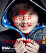 KEEP CALM AND SAY GOODNIGHT - Personalised Poster A4 size