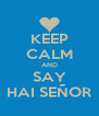 KEEP CALM AND SAY HAI SEÑOR - Personalised Poster A4 size