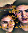 KEEP CALM AND SAY HAPPY ANNIV - Personalised Poster A4 size