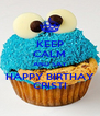 KEEP CALM AND SAY HAPPY BIRTHAY CRISTI - Personalised Poster A4 size