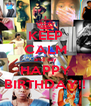 KEEP CALM and say HAPPY BIRTHDAY!! - Personalised Poster A4 size