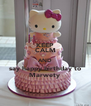 KEEP CALM AND say happy birthday to Marwety  - Personalised Poster A4 size
