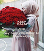 KEEP CALM AND say happy birthday to Marwety ♥♥ - Personalised Poster A4 size