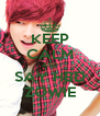 KEEP CALM AND SAY HBD ZOWIE - Personalised Poster A4 size