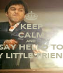KEEP CALM AND SAY HELLO TO MY LITTLE FRIEND! - Personalised Poster A4 size