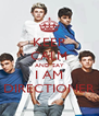 KEEP CALM AND SAY I AM DIRECTIONER - Personalised Poster A4 size