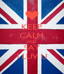 KEEP CALM AND SAY I LUV U - Personalised Poster A4 size