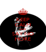 KEEP CALM AND SAY NO MORE - Personalised Poster A4 size
