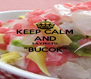 """KEEP CALM AND SAY NO TO """"BUCOK""""  - Personalised Poster A4 size"""