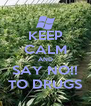 KEEP CALM AND SAY NO!! TO DRUGS - Personalised Poster A4 size