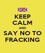 KEEP CALM AND SAY NO TO FRACKING - Personalised Poster A4 size