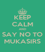 KEEP CALM AND SAY NO TO MUKASIRS - Personalised Poster A4 size