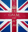 KEEP CALM AND SAY PEACE - Personalised Poster A4 size