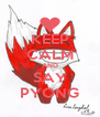 KEEP CALM AND SAY PYONG - Personalised Poster A4 size