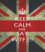 KEEP CALM AND SAY WTF !!! - Personalised Poster A4 size