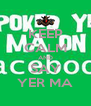 KEEP CALM AND SAY YER MA - Personalised Poster A4 size