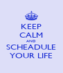 KEEP CALM AND SCHEADULE YOUR LIFE - Personalised Poster A4 size