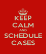 KEEP CALM AND SCHEDULE CASES - Personalised Poster A4 size