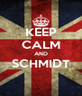KEEP CALM AND SCHMIDT  - Personalised Poster A4 size