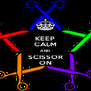 KEEP CALM AND SCISSOR ON - Personalised Poster A4 size