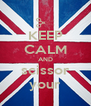 KEEP CALM AND scissor your - Personalised Poster A4 size