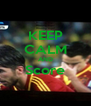 KEEP CALM AND Score  - Personalised Poster A4 size