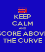 KEEP CALM AND SCORE ABOVE THE CURVE - Personalised Poster A4 size