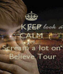 KEEP CALM And Scream a lot on  Believe Tour - Personalised Poster A4 size