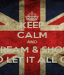 KEEP CALM AND SCREAM & SHOUT AND LET IT ALL OUT! - Personalised Poster A4 size