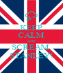 KEEP CALM AND SCREAM, STANLEY! - Personalised Poster A4 size