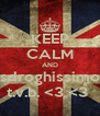 KEEP CALM AND sdroghissimo t.v.b. <3 <3  - Personalised Poster A4 size