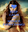 KEEP CALM AND SEDUCE EVERYTHING! - Personalised Poster A4 size