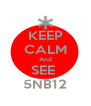 KEEP CALM And SEE  5NB12 - Personalised Poster A4 size