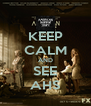KEEP CALM AND SEE AHS - Personalised Poster A4 size