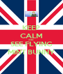 KEEP CALM AND SEE FLYING MINT BUNNY - Personalised Poster A4 size