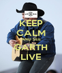 KEEP CALM AND SEE GARTH LIVE - Personalised Poster A4 size