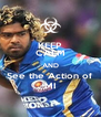 KEEP CALM AND See the Action of MI - Personalised Poster A4 size