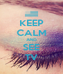 KEEP CALM AND SEE TV - Personalised Poster A4 size