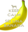 KEEP CALM AND SEI UNA BANANA - Personalised Poster A4 size
