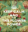KEEP CALM AND SEIZE THE FLOWER POWER - Personalised Poster A4 size