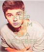 KEEP CALM AND SEJA BELIEBER - Personalised Poster A4 size