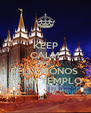 KEEP CALM AND SELLEMONOS  EN UN TEMPLO - Personalised Poster A4 size