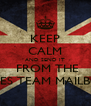 KEEP CALM AND SEND IT  FROM THE SALES TEAM MAILBOX - Personalised Poster A4 size