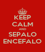 KEEP CALM AND SEPALO ENCEFALO - Personalised Poster A4 size