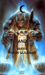 KEEP CALM AND SERVE  YOUR GODDESS - Personalised Poster A4 size