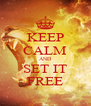 KEEP CALM AND SET IT FREE - Personalised Poster A4 size