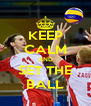 KEEP CALM AND SET THE BALL - Personalised Poster A4 size
