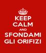 KEEP CALM AND SFONDAMI GLI ORIFIZI - Personalised Poster A4 size