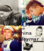 KEEP CALM AND Shahina Love Neymar - Personalised Poster A4 size