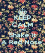 KEEP CALM AND Shake It A Red Nose  - Personalised Poster A4 size